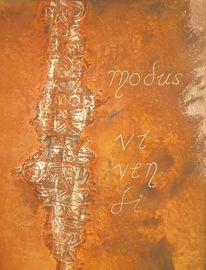 Abstrakt, Rost, Malerei, Kupfer
