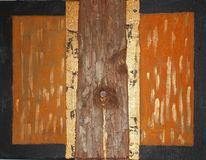 Rinde, Kupfer, Acrylmalerei, Collage