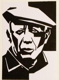 Acrylmalerei, Portrait, Picasso, Malerei