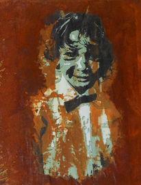 Malerei, Rost, Erinnerung, Portrait
