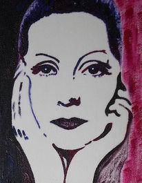 Schweden, Acrylmalerei, Greta garbo, Malerei