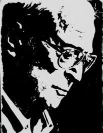 Portrait, Michael caine, Acrylmalerei, Malerei