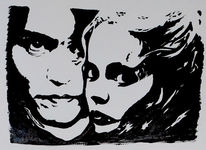 Film, Sleepy hollow, Acrylmalerei, Johnny depp
