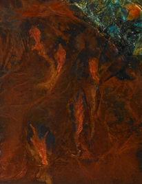 Spuren, Patina, Farben, Abstrakt