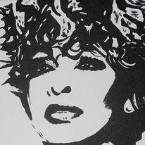 Portrait, Tina turner, Acrylmalerei, Malerei
