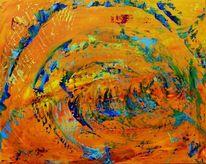 Entstehung, Acrylmalerei, Abstrakt, Malerei