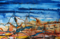 Himmel, Erde, Gouachemalerei, Malerei