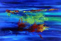 Schwerelos, Universum, Unendlichkeit, Malerei