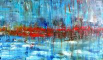 Abstrakt, Rheinland, Ölmalerei, Dorf