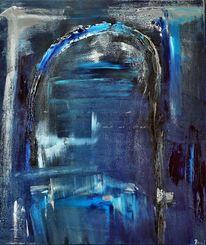 Durchgang, Tunnel, Blau, Dunkel