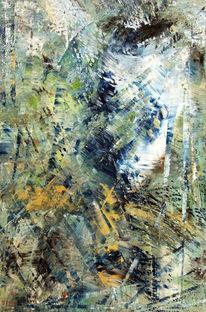 Abstrakt, Schlucht, Kreta, Malerei