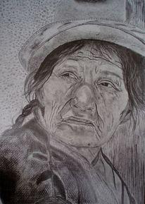 Frau, Kopf, Gedanken hut, Zeichnungen