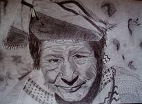 Gesicht tuch mann, Zeichnungen