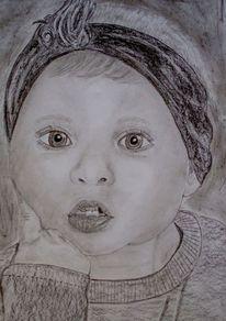 Mädchen, Portrait, Kind, Zeichnungen
