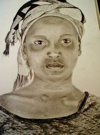 Tuch, Gesicht portrait, Augen, Zeichnungen