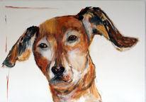Freunde, Hund, Malerei,