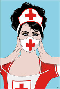 Krank, Alles gut, Hilfe, Illustrationen