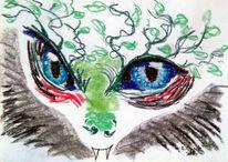 Fabelwesen, Augen, Monster, Zeichnungen