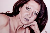 Frau, Portrait, Ölmalerei, Malerei