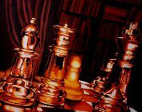Glasschachspiel, Fotorealismus, Schach, Spiegelung