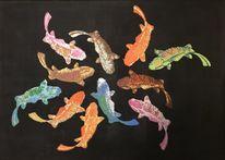 Tiere, Gruppe, Fisch, Gemeinschaft