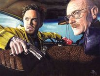 Ölmalerei, Jessy pinkman, Breaking bad, Walter white