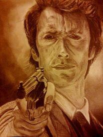 Bleistiftzeichnung, Grafit, Buntsftifte, Portrait