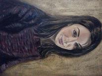 Gesicht, Portrait, Pullover, Ölmalerei
