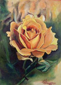 Muttertag, Rose, Ölmalerei, Malerei