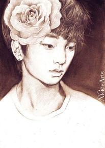 Zeichnung rose, Zeichnungen, Portrait