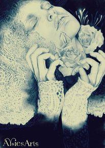 Tod, Polychromos, Zeichnungen