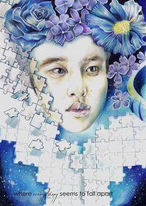 Blumen puzzle, Zeichnungen