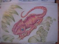 Chamäleon, Tiere, Malerei