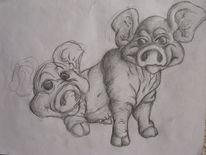 Schwein, Malerei, Tiere