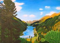Bergsee, Auftragsarbeit, Österreich, Bunt