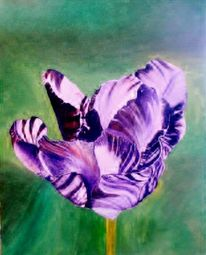 Blumen, Tulpen, Ölmalerei, Malerei