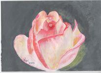 Rose, Acrylmalerei, Nach majas vorlage, Malerei