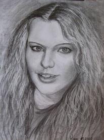 Portrait, Bleistiftzeichnung, Zeichnen, Zeichnung