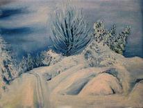 Winter, Sachsen, Landschaftsmalerei, Ski
