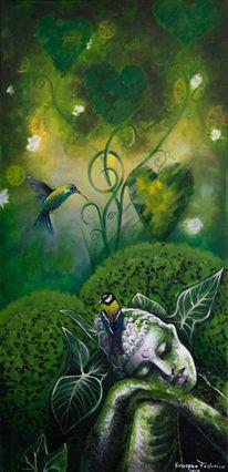 Mystik, Surreal, Acrylmalerei, Traum