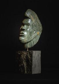 Portrait, Afrika, Skulptur, Gesicht