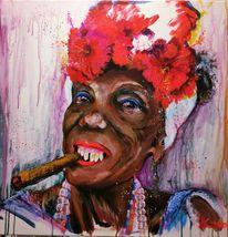 Karibik, Zigarre, Smoking, Blumen