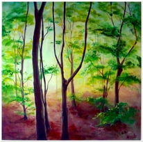 Natürlich, Realismus, Schatten, Wald