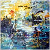 Wasser, Landschaft, Groß, Stadt