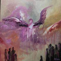 Geborgenheit, Abstrakt, Trauer, Engel