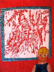 Rot, Hänsel, Hexenhaus, Malerei