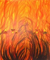 Feuer sonne, Malerei, Feuer, 3d