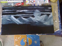 Malerei, Mond