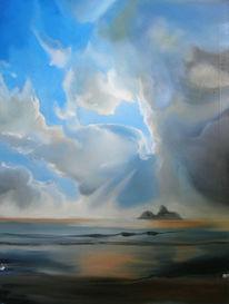 Wolken, Blau, Meer, Felsen