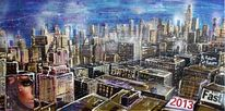 Newyork, Mixed media, Manhattan, Upper westside